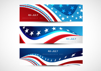 Headers Of 4th July Independence Day For Banner - Kostenloses vector #354407