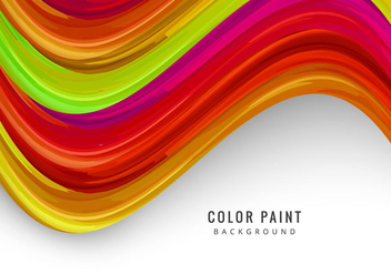Colorful Watercolor Wave - vector gratuit #354447