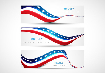 4th July American Independence Day Flag - vector #354477 gratis