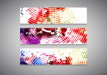 Colorful Halftone Headers - Free vector #354557