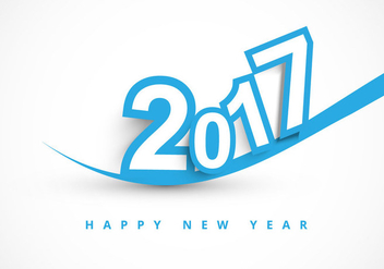 2017 Happy New Year Greeting Card - Free vector #354567