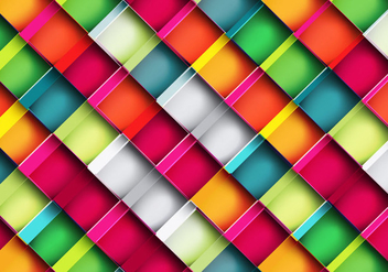 Colorful Square Pattern - vector gratuit #354607