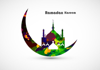 Decorative Ramadan Kareem Card - Kostenloses vector #354627