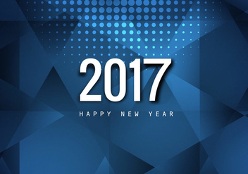 Stylish Happy New Year 2017Card - Kostenloses vector #354667