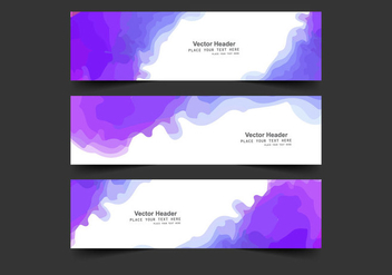 Header With Watercolor Splash - vector gratuit #354727