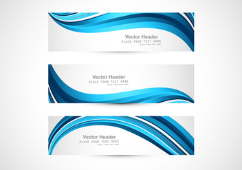 Blue Abstract Header - Free vector #354757