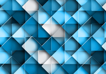 Seamless Geometric Blue Pattern - Free vector #354777