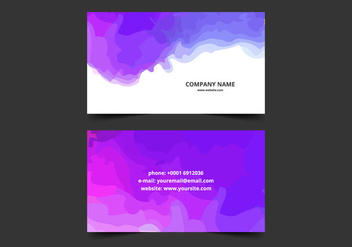 Water Splash Business Card - vector gratuit #354837