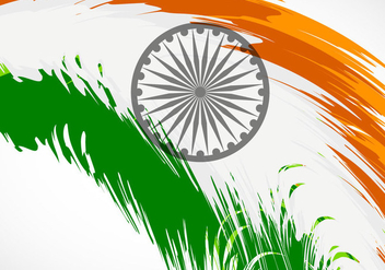 Tri Color Grunge Brush Stroke Indian Flag - vector #354907 gratis