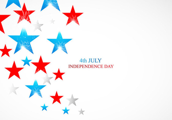 4th July Independence Day Card With Shiny Stars - Kostenloses vector #354917