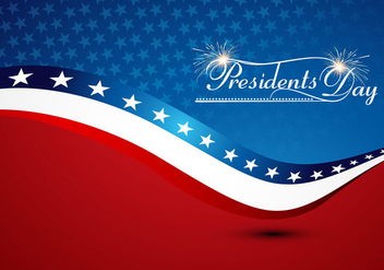President Day With American Flag - vector gratuit #354927
