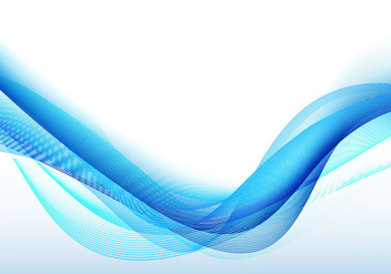Abstract Blue Wavy Background - vector #354937 gratis