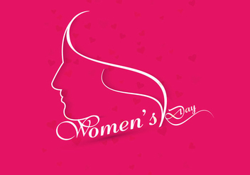 Happy Women's Day On Pink Background - Kostenloses vector #354957