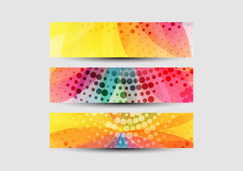 Set Of Flower Design Header - бесплатный vector #355017