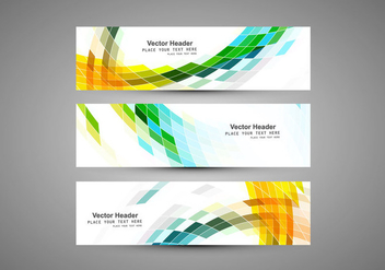 Headers For Business Card - бесплатный vector #355027