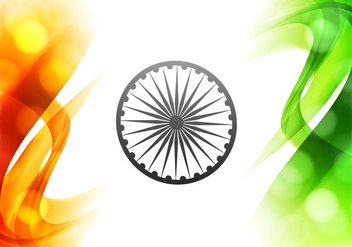 Illustration Of Beautiful Indian Flag - vector #355037 gratis