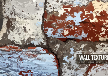 Cracked Brick Wall Texture - Kostenloses vector #355067