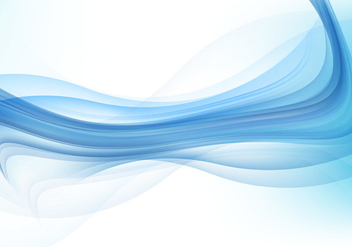 Abstract Blue Wave Background - vector gratuit #355087