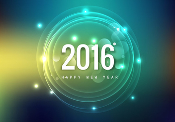 Glowing Happy New Year Card - Kostenloses vector #355127