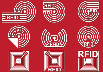 RFID Vector Icon Set - Kostenloses vector #355217