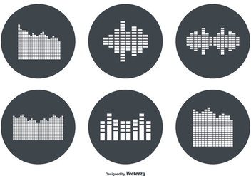 Sound Bar Vector Icon Set - vector #355227 gratis