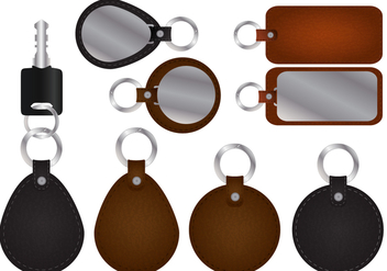 Key Holder With Leather Vectors - vector gratuit #355267