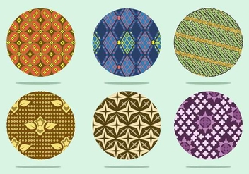Coloroful Batik Background Vector - vector #355277 gratis
