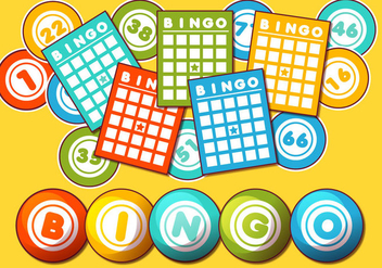 Bingo Card Vector Set - Free vector #355357