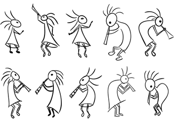 Kokopelli Fertility Deity Vector Collection - Kostenloses vector #355387