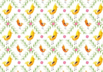 Free Vector Pattern With Birds - бесплатный vector #355437