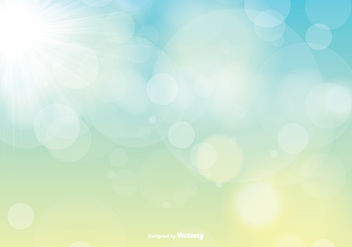 Spring Vector Background with Sunshine - vector gratuit #355467