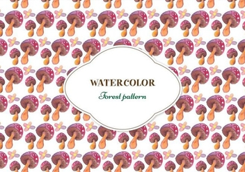 Free Forest Watercolor Vector Pattern - бесплатный vector #355487