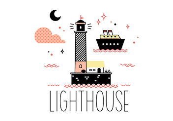 Free Lighthouse Vector - Kostenloses vector #355587