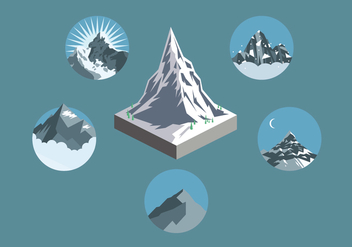 Everest Illustration Set - vector gratuit #355607
