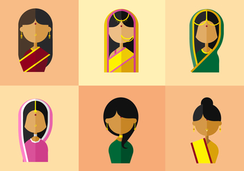 Vector India Woman - Kostenloses vector #355617