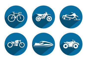 Sport Vehicle Vector Icons - бесплатный vector #355647