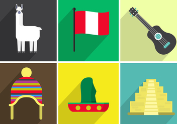 Vector Icons of Peru - vector #355657 gratis