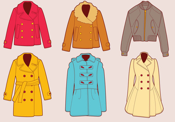 Winter Coats Vector Set - Free vector #355687
