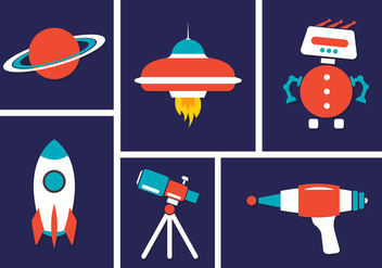 Space Vector Icons - vector #355727 gratis