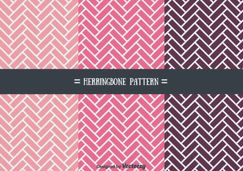 Girly Herringbone Pattern Vectors - Free vector #355747