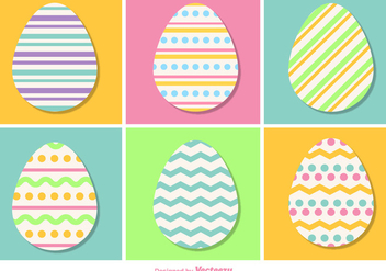 Pastel Color Vector Easter Eggs - vector gratuit #355777