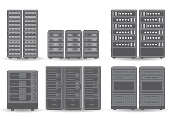 Server Rack Vector - vector gratuit #355857