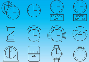 Clocks And Time Icon Vectors - vector gratuit #355897