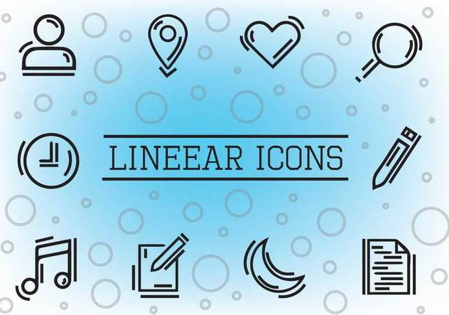 Free Linear Vector Icons - Free vector #355947