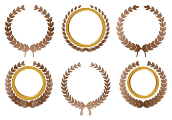 Olive Wreath Vector - vector #355957 gratis