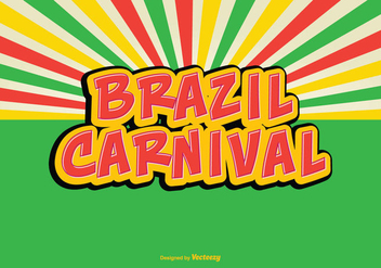 Colorful Retro Brazil Carnival Vector Illustration - Kostenloses vector #355977