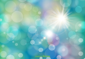 Beautiful Abstract Bokeh Background - vector gratuit #356027