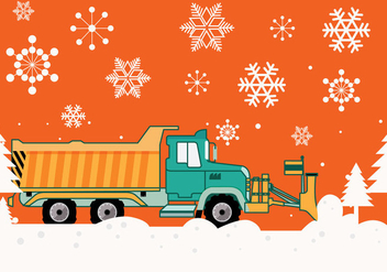 Snow Plow Vector - бесплатный vector #356037