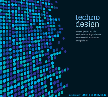 Dotted techno background - vector gratuit #356047