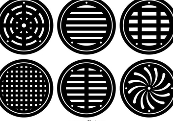 Flat Manhole Vector Covers - vector gratuit #356137
